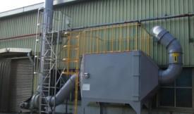 「使用现场」烟台龙口某生产车间废气处理设备用蜂窝活性炭